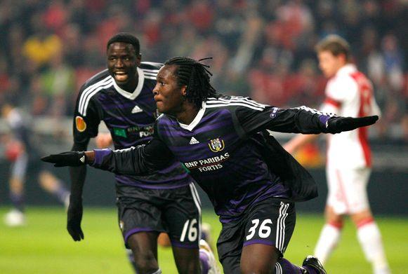 Lukaku viert zijn goal tegen Ajax.