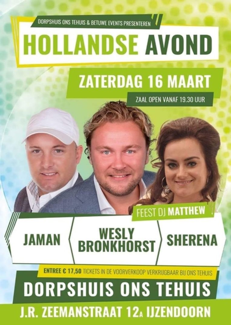 Poster van de Hollandse Avond. Beeld