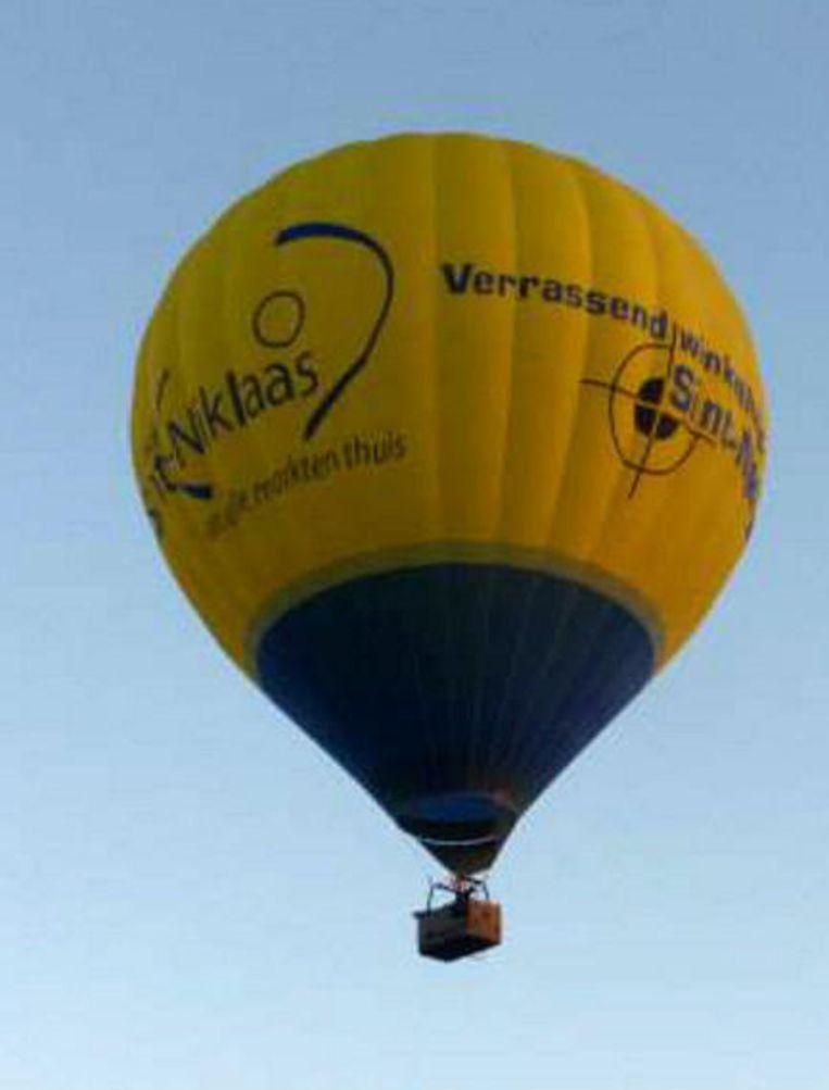 Een 'ballonfie', ergens hoog boven Nederland.