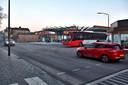 Het busstation aan de Leijsenhoek in Oosterhout.