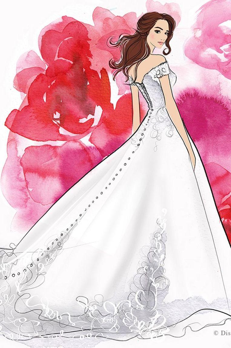 De jurk geïnspireerd op Belle.