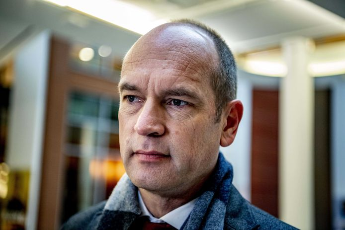 Gert Jan Segers (ChristenUnie) voor aanvang van het coalitieoverleg vanmorgen
