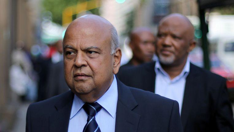 De Zuid-Afrikaanse ex-minister van Financiën, Pravin Gordhan.