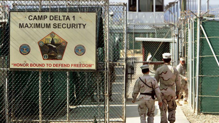 Camp Delta op Guantanamo Bay. Beeld ap