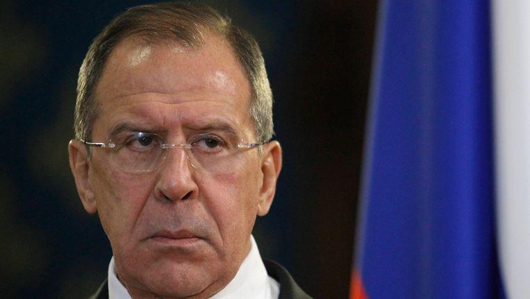 De Russische minister Sergei Lavrov van Buitenlandse Zaken Beeld REUTERS