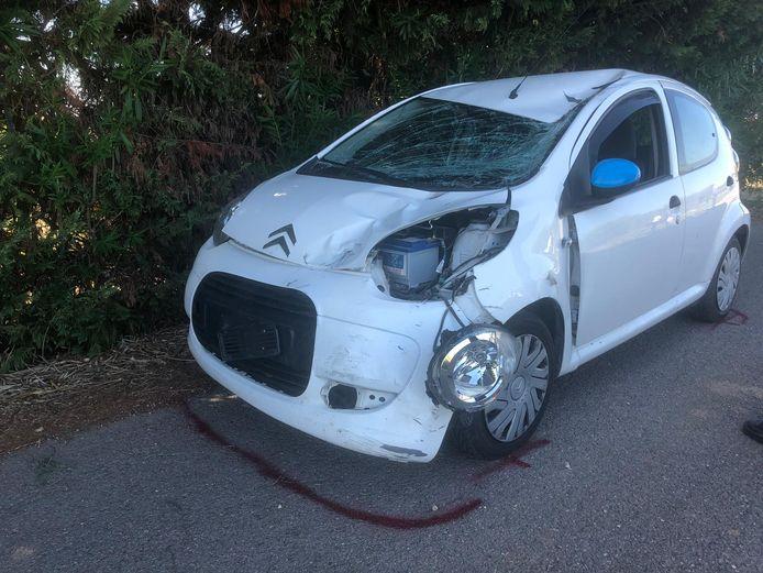 De bestuurder van de Citroën verkeerde na het ongeval in shocktoestand.