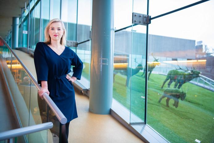 Ilse Harmelink in CODA, waar Apeldoorn Marketing onderdak heeft.