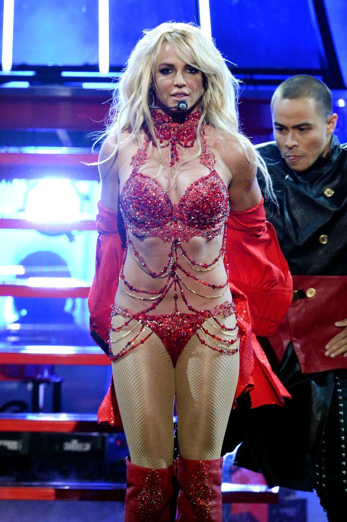 La Spears tijdens een show in Las Vegas.