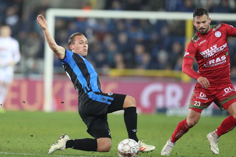Nederlander Ruud Vormer (links) speelt in de Belgische competitie voor Club Brugge. Beeld BELGA