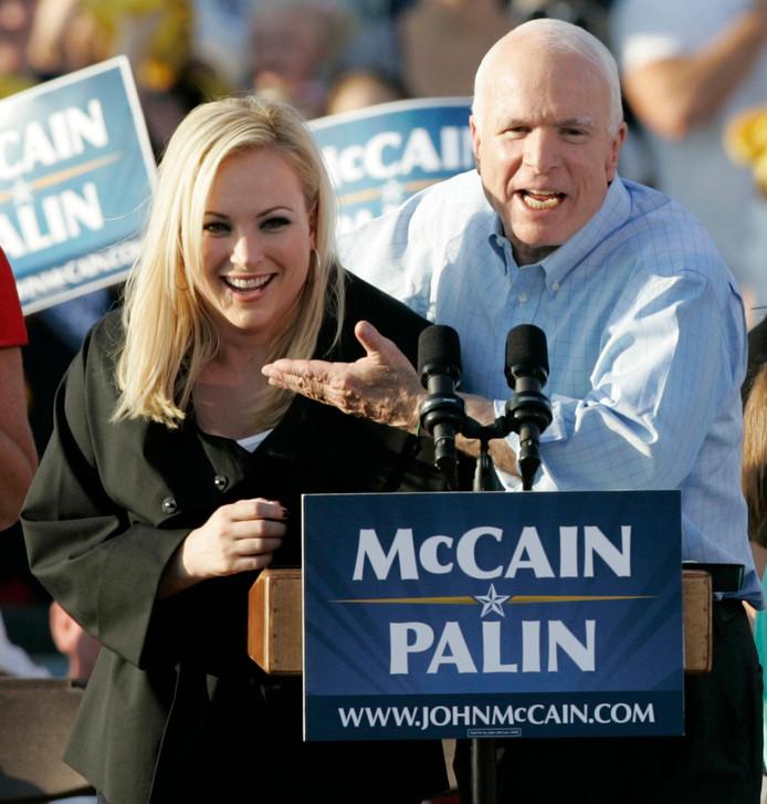 Meghan et son père John McCain.