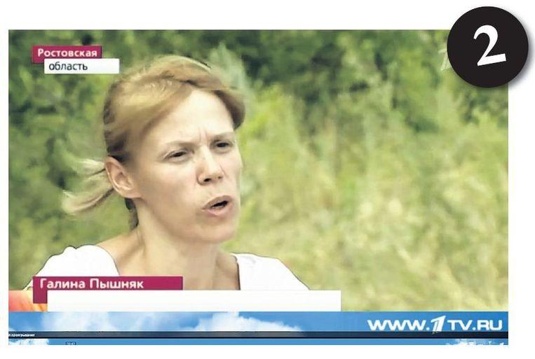 Voorbeelden van propaganda: 'Voor de ogen van zijn moeder werd een jochie van drie gekruisigd in Slavjansk.' Beeld