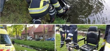 'Helden' redden bestuurder van scootmobiel die in water rijdt in Heusden