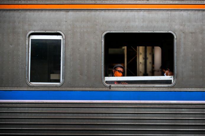 Een trein in Thailand