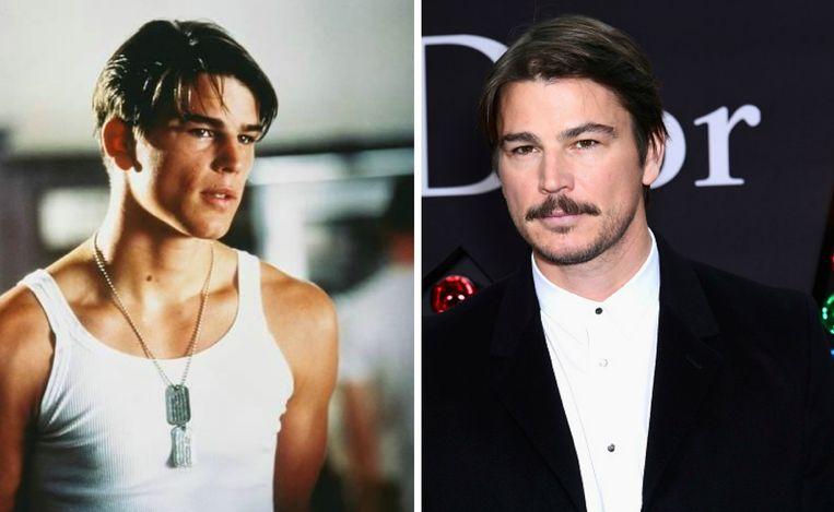 Links: Josh Hartnett  in 'Pearl Harbor'. Rechts: Josh Hartnett in 2018.