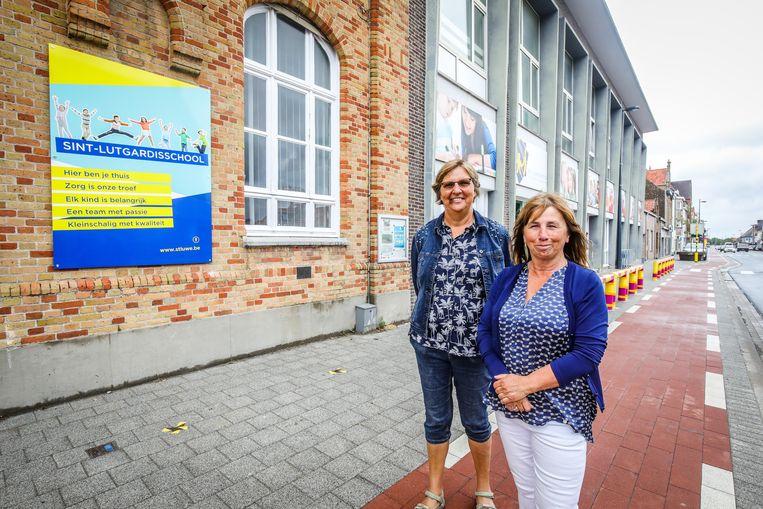 Juf Rosa Coene en Annemie Hermans verlaten na 27 en 36 jaar het Sint-Lutgardisinstituut van Westende.