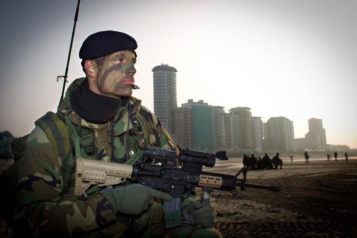 Het Korps Mariniers oefent in Vlissingen, een paar jaar geleden.