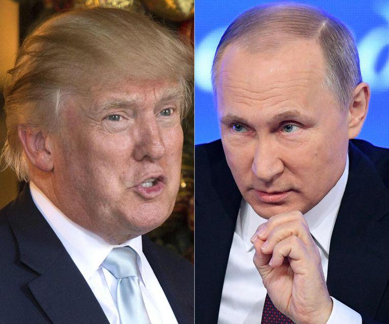 Donald Trump en Vladimir Putin. Beeld afp