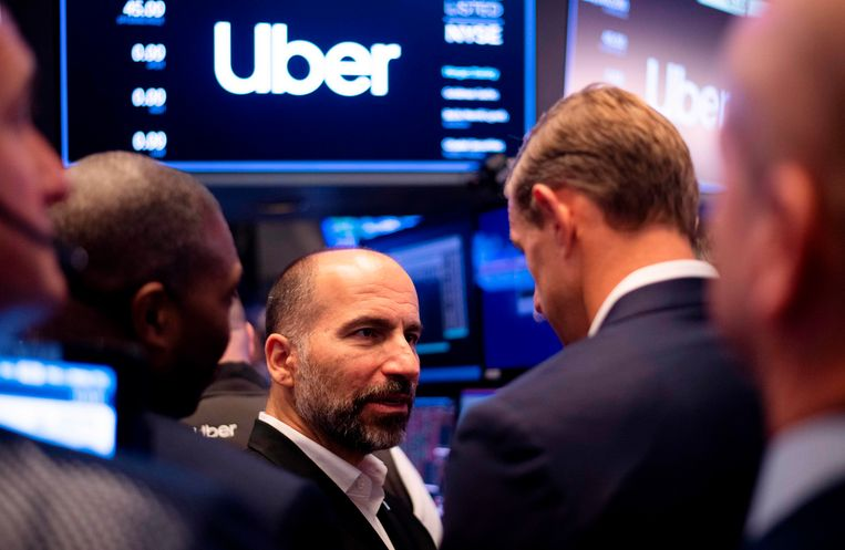 Uber-ceo Dara Khosrowshahi. Beeld AFP