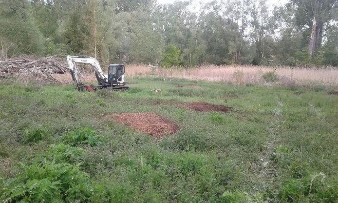 Herstelwerken in het natuurgebied Mene-Jordaan in Meldert (foto Natuurpunt)
