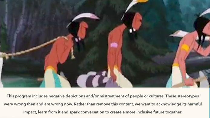 """""""Ce programme comprend des descriptions négatives et/ou des mauvais traitements de certains peuples ou cultures """", prévient notamment le message, qui ne peut être passé."""