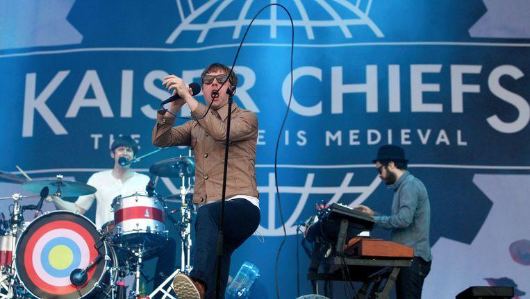 Ricky Wilson, zanger van de Engelse band Kaiser Chiefs. Beeld ap
