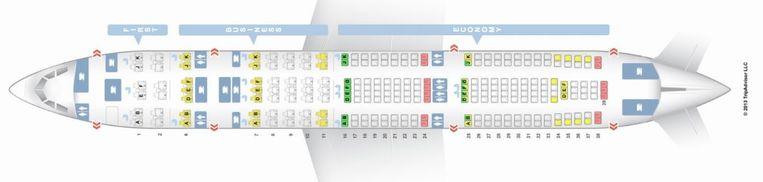 Op www.seatguru.com vind je het grondplan van vrijwel alle vliegtuigtypes met zetelindeling. Groene zetels zijn goed, met gele moet je oppassen en rode zijn slecht.