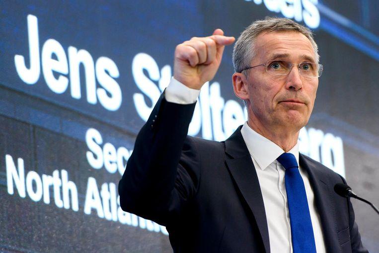 NAVO-chef Jens Stoltenberg. Beeld epa