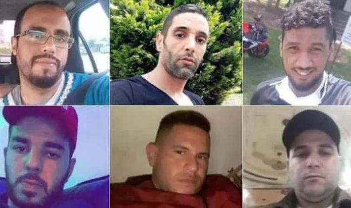 Ces sept hommes ont perdu la vie dans un conteneur.