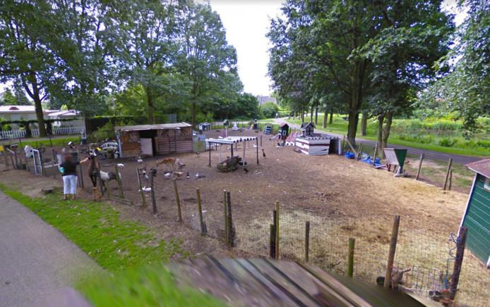Het dierenparkje zoals het was aan de Colmschaterstraatweg