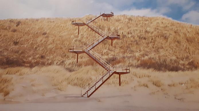 De trap waar de Veerse commissieleden nu nog geen besluit over kunnen nemen.