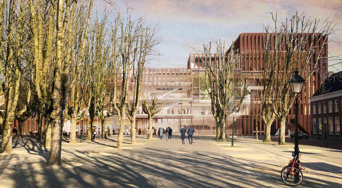 Het voorlopig ontwerp van de voorzijde van het Theater aan de Parade in Den Bosch.