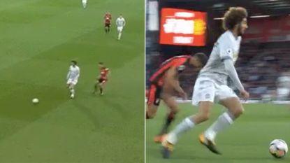 Kunststukje: Fellaini gooit hoge ogen met de 'Ronaldo Chop'