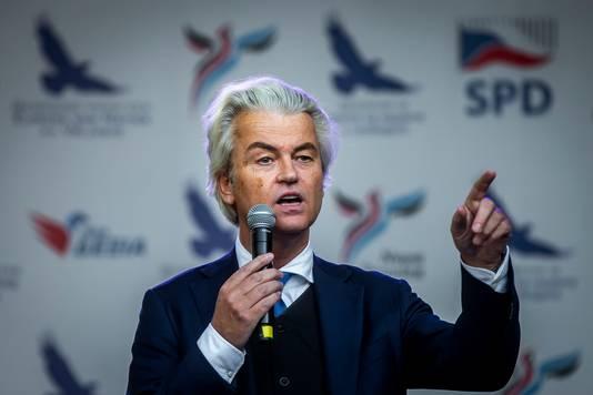 Wilders tijdens een toespraak.