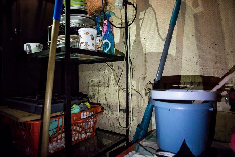 In de keuken is er een permanent gevaar voor elektrocutie
