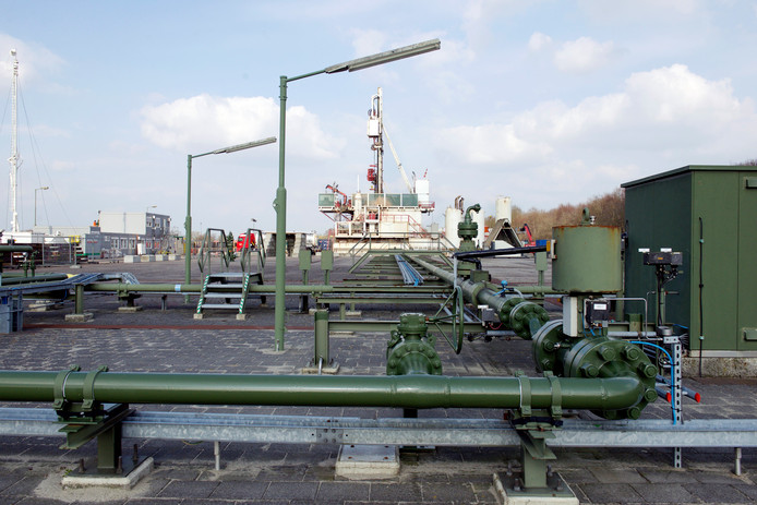 De  gaswinning bij Hardenberg.