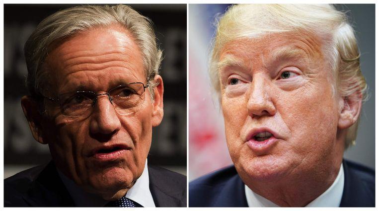 Trump (links) over Woodward: 'Weer een slecht boek'.