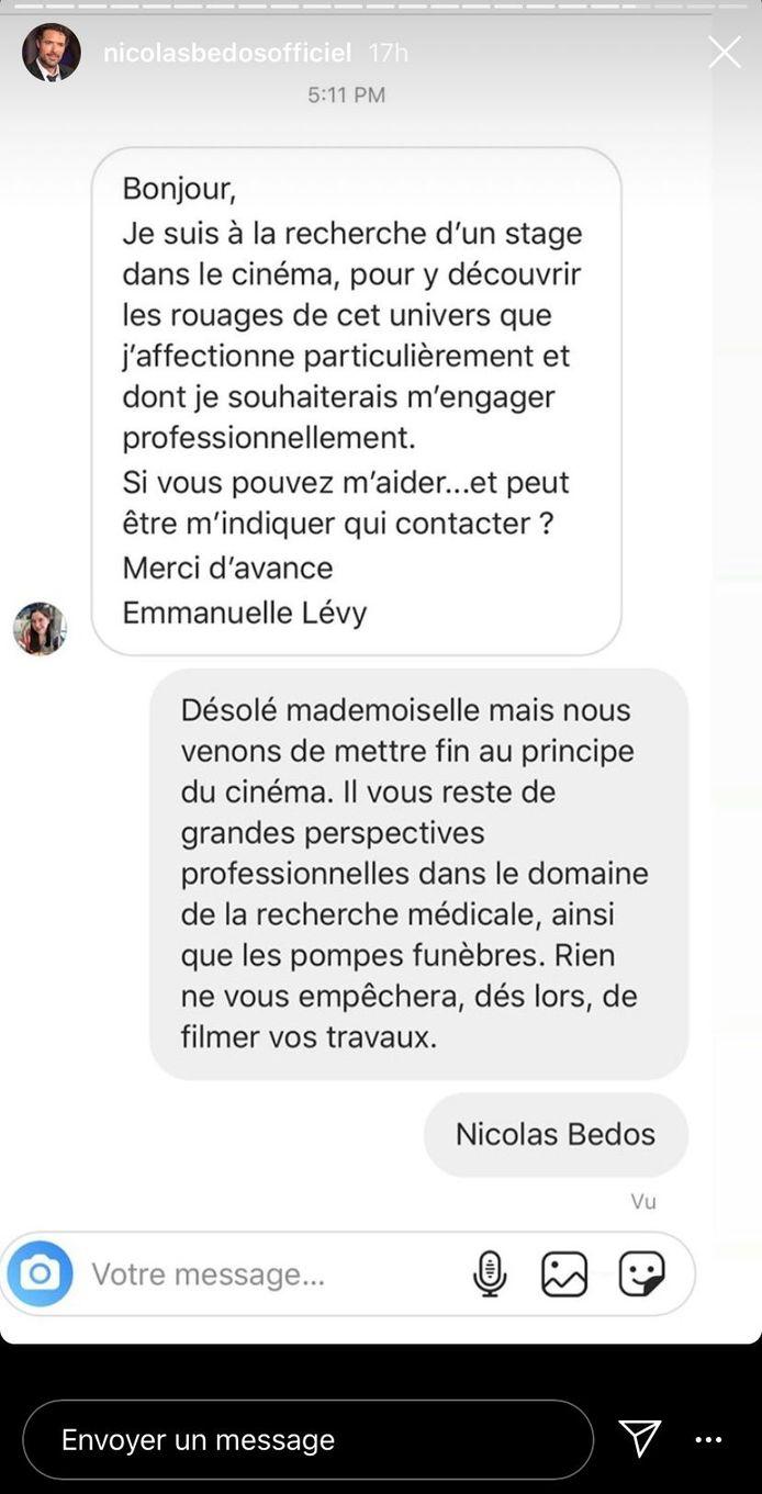 La conversation entre Nicolas Bedos et Emmanuelle Lévy