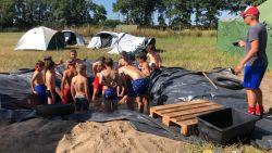 Op kamp op de warmste plek van het land