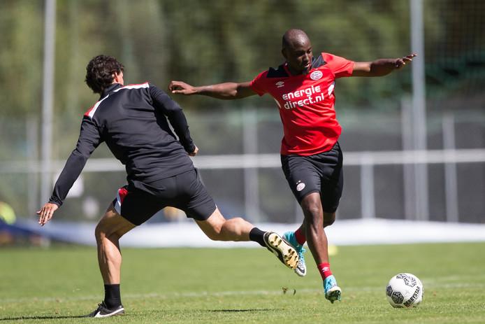 Jetro Willems bij een van zijn laatste trainingen bij PSV.