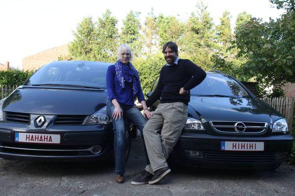Fries en Astrid Reyntjens vinden het leuk om met 'HAHAHA' en 'HIHIHI' te rijden.