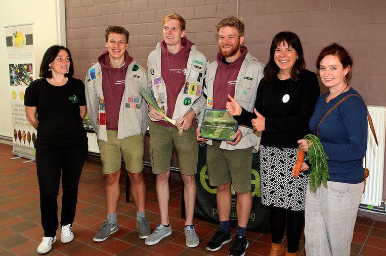 Scouts Sint Kristoffel krijgt de Nobelprei van EVA Oosterzele.