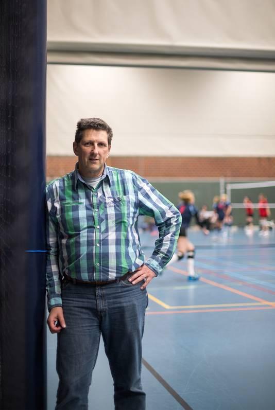 Jacques Arends in sporthal de bongerd in Bemmel.