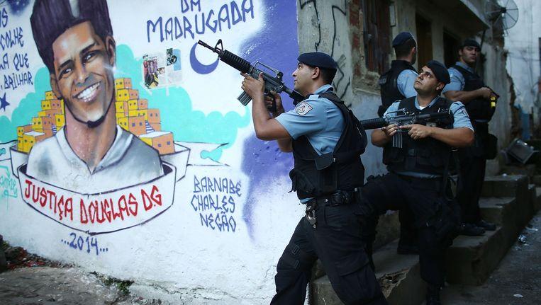De oproerpolitie in Brazilië.