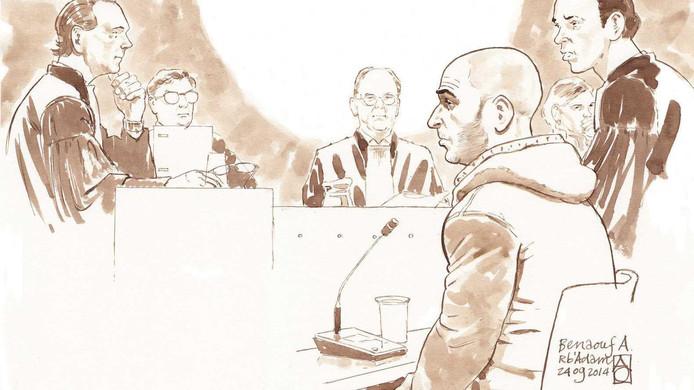 Rechtbanktekening van Benaouf A.