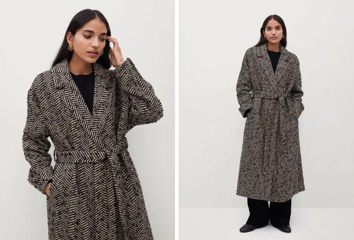 Manteau croisé texturé