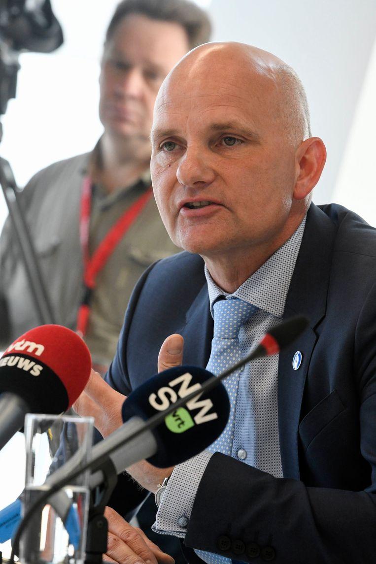 Stanny De Vlieger bij de voorstelling van het Stroomplan in 2018.