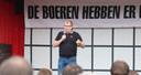 Peter Weevers - hier als voorman van Agractie - spreekt de boeren toe.