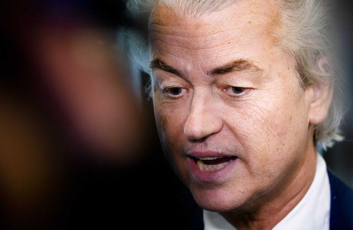 2019-11-06 02:58:47 DEN HAAG - Geert Wilders (PVV) tijdens het Vragenuurtje in de Tweede Kamer. ANP BART MAAT