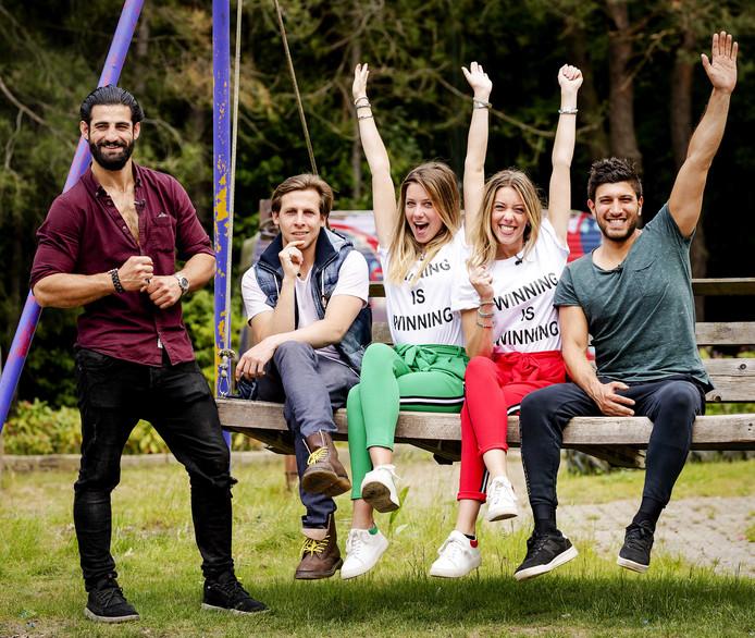 Ivan, Bas, Demi, Fay en Mehmet.