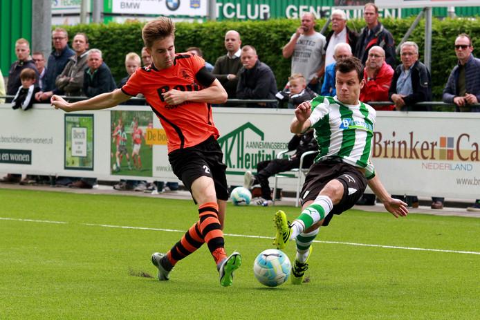Frank Kuurman scoorde namens SC Genemuiden tegen Sparta Nijkerk. Foto: Helmich Lubberts